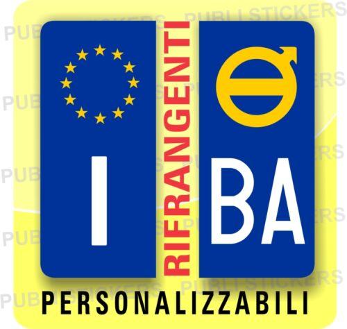 ADESIVI BLU RIFRANGENTI PER TARGA AUTO EUROPEA CON SIMBOLO VOLVO E PROVINCIA