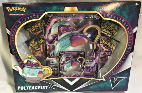 Pokemon Sword /& Shield Polteageist V Box with Promo Card /& Packs Inside New!