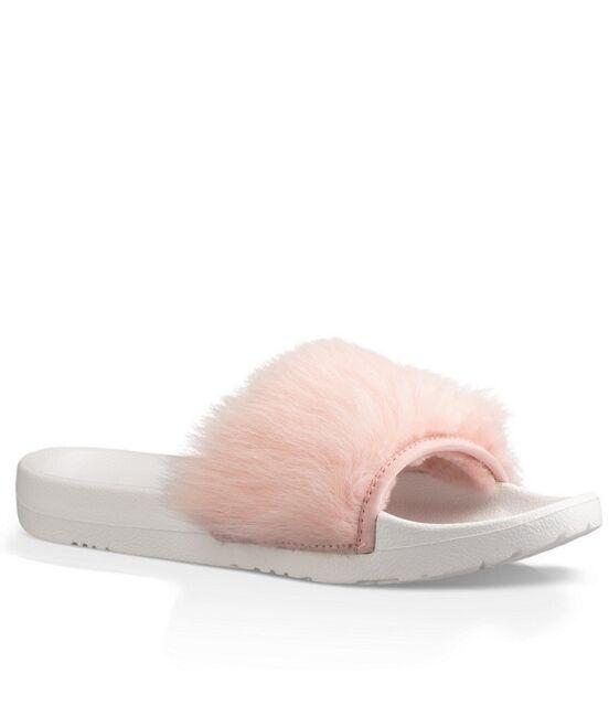 38d410cd2e3 UGG Australia Royale Baby Pink Fur Slide Slipper Women's Sizes 6,9 and 10  NEW!!!