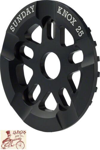 SUNDAY KNOX GUARD 25T BLACK BICYCLE SPROCKET