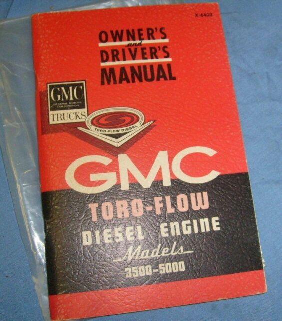 1964 Gmc Truck 3500 5000 Toro Flow Diesel Manual Rare   W