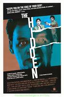 THE HIDDEN MOVIE POSTER SS 27x41 Horror Classic 1987 + THE FOG DS 27x40 BONUS