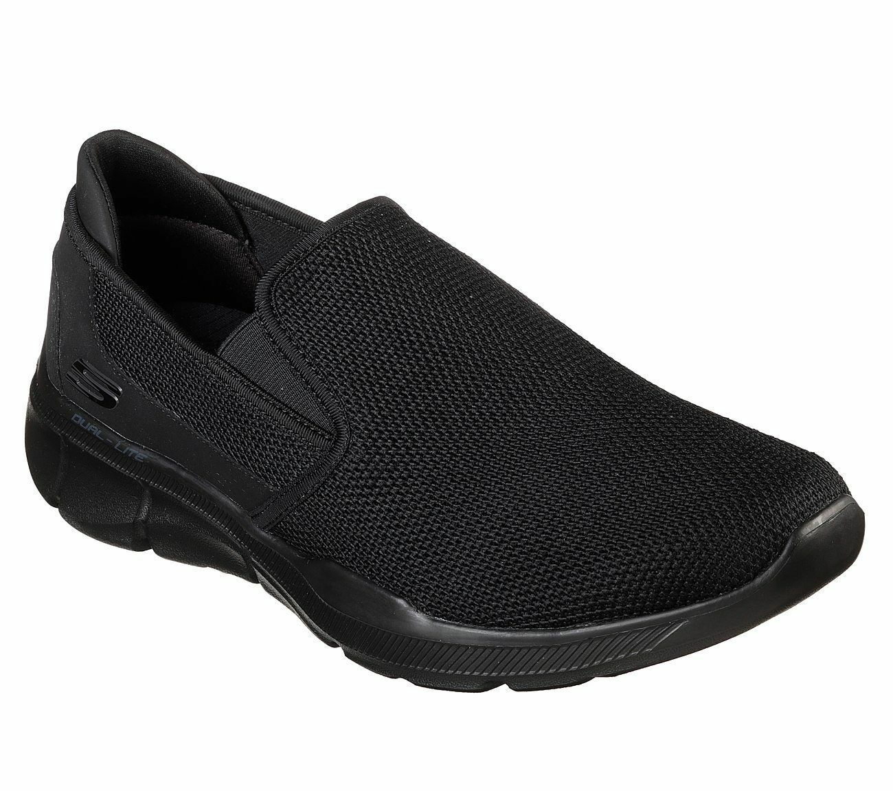 52937 EWW Extra Wide BBK Black Skechers shoe Men Memory Foam Slip On Casual Soft