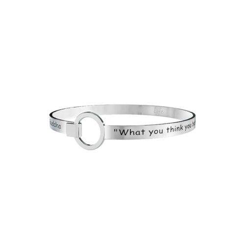 """Kidult life 231718 collection bracciale acciaio /""""crea la storia della tua vita/"""""""