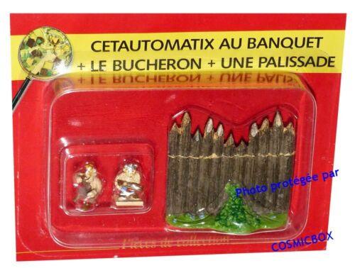 Le VILLAGE d/'ASTERIX n° 56 figurine CETAUTOMATIX au banquet figure Atlas PLASTOY