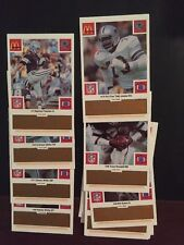 1986 McDonalds Dallas Cowboys Set Orange Tabs