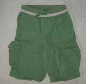Gap-Kids-Green-Cargo-Shorts-Large-Ribbed-Waist-Cotton-Boy-039-s-D03