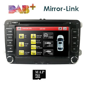 VW-Golf-MK5-MK6-Jetta-7-034-Car-Stereo-Radio-DVD-Sat-Nav-GPS-Bluetooth-OEM-Style