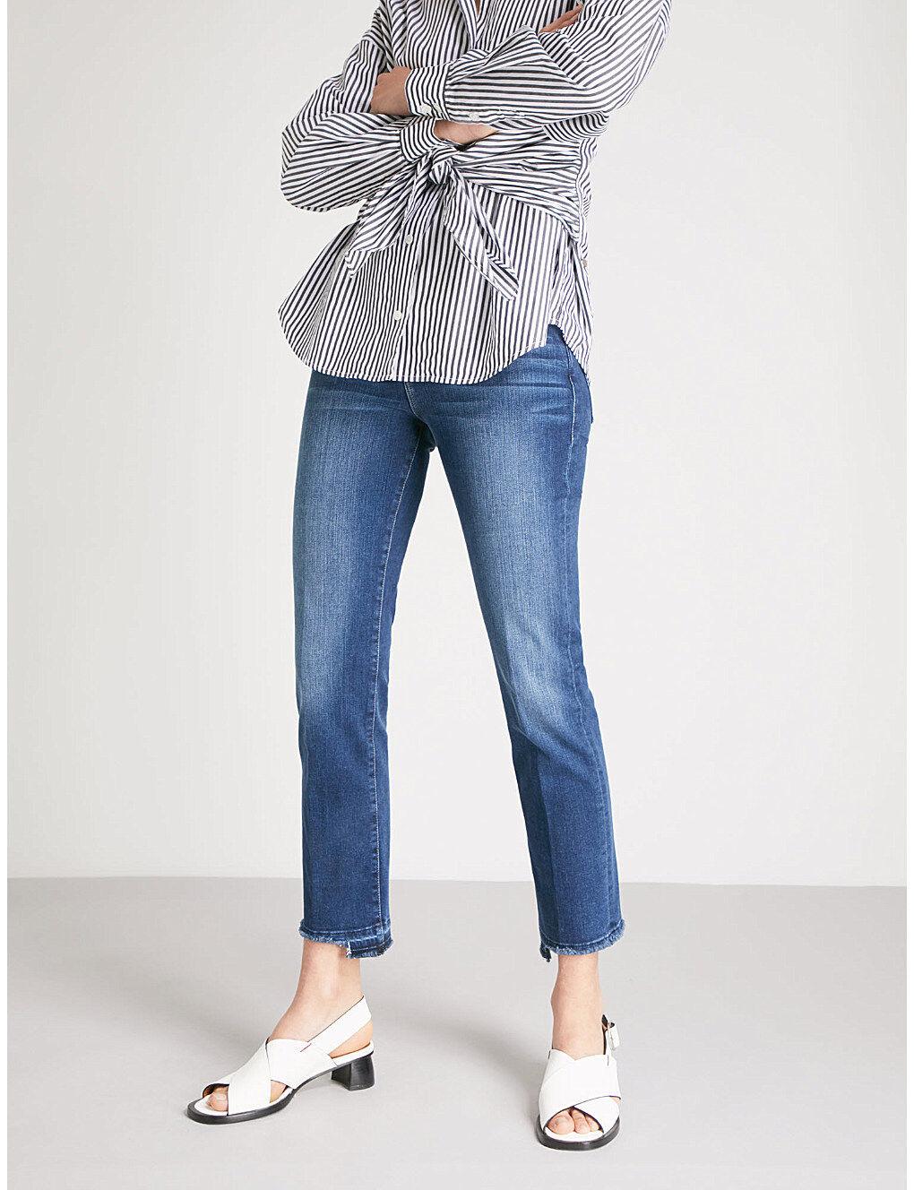 NWT Frame Denim Le High released-hem straight high-rise jeans FORTUNA SZ 27