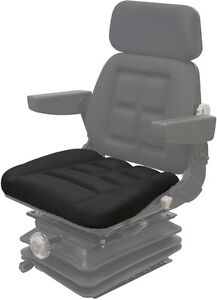 7a9560fc8f6 Black Fabric Seat Cushion for Pilot Seat - 4 Twist Clips In Front ...