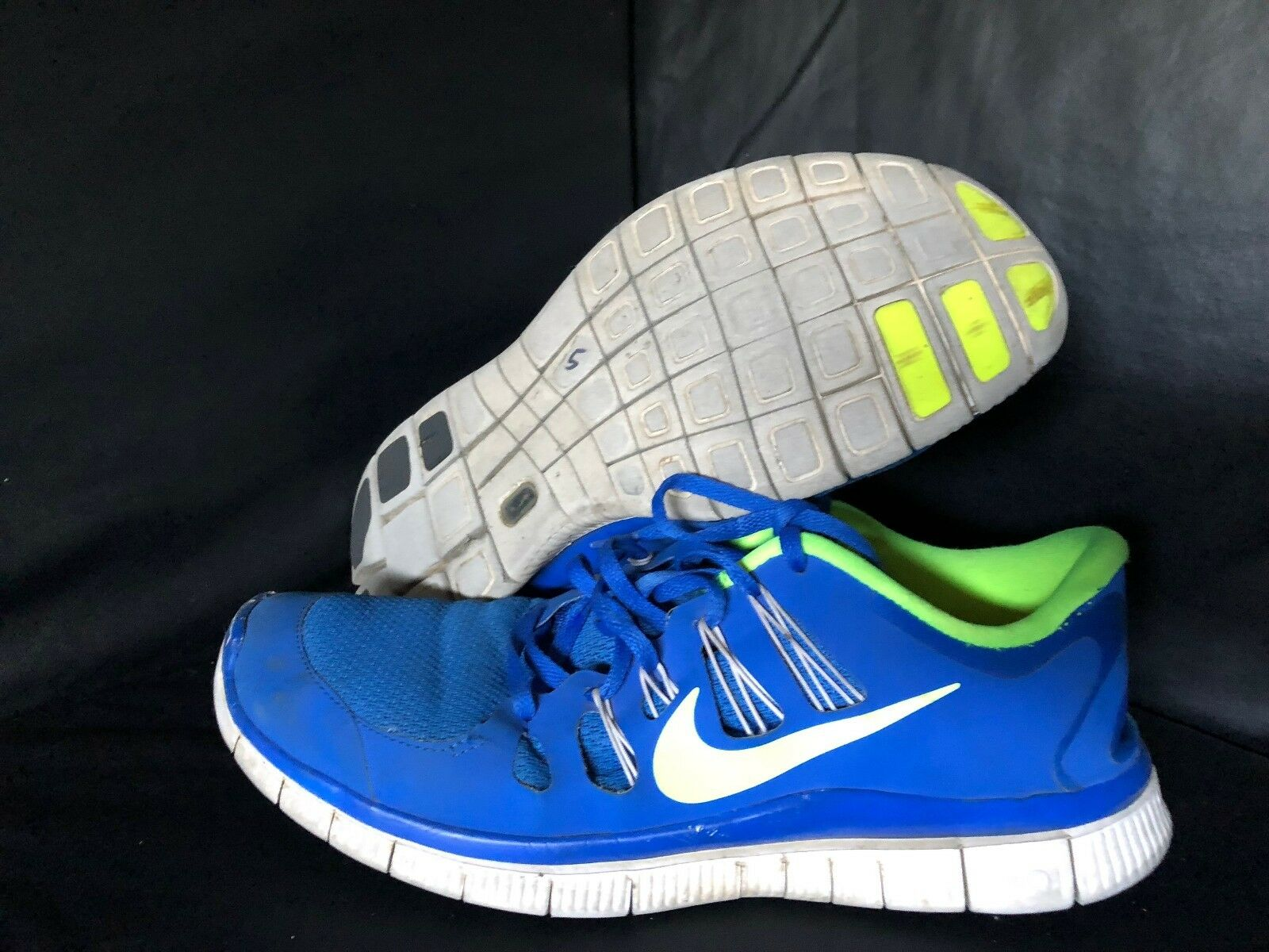 Mens Nike Blue 11.5 Lace Up Sneakers Shoes w/Free Shipping