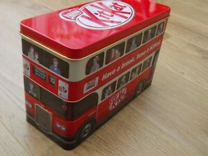 KIT KAT LONDON DOUBLE DECK RED BUS CHOCOLATE STORAGE TIN fAkaqXvo-09091754-905766207