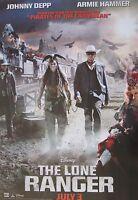 Lone Ranger tonto & Ranger Walking By Train Poster- Johnny Depp,armie Hammer
