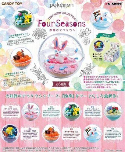 RE-MENT Pokemon Terrarium Four Seasons Poke Ball Case Figure Wartortle Sandygast
