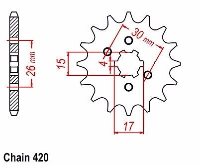 NEW HONDA  14T  FRONT SPROCKET 252.14  CHAIN SERIES 420