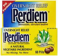2 Pack - Perdiem Pills Overnight Relief 60 Each on sale