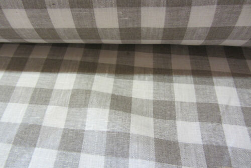 Forge des Salles French   Check Linen Curtain//Craft upholstery Fabric