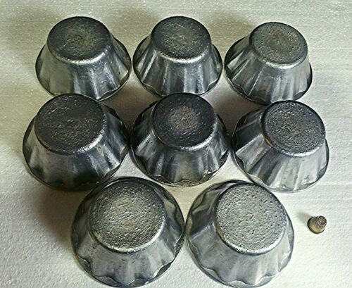 × Forms for Cupcakes Pastry Cookie Baking Duralumin USSR 8 pcs