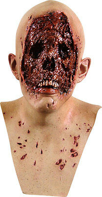 MENS EVIL DEAD ZOMBIE FILM TV SCARY LATEX HEAD & NECK CHEST MASK HALLOWEEN MASK