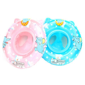 Baby-Kids-Swimming-Ring-Floats-with-Safety-Seat-Raft-Inflatable-Pool-Bathtub-Toy