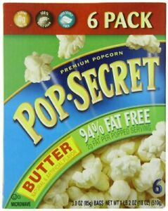 Pop Secret 94% Fat Free Butter Popcorn, 3.0 oz. Bags, 6 ...