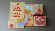 NEW Wendy's Family Fun/ Playground Games CompleteTag, Chalk, Kick Can, 4 Square