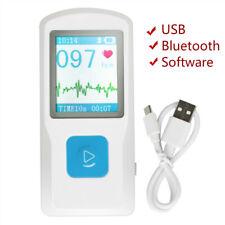 Ce Portable Ecg Ekg Machine Handheld Heart Beat Monitor Usb Bluetooth Lcd Pm10