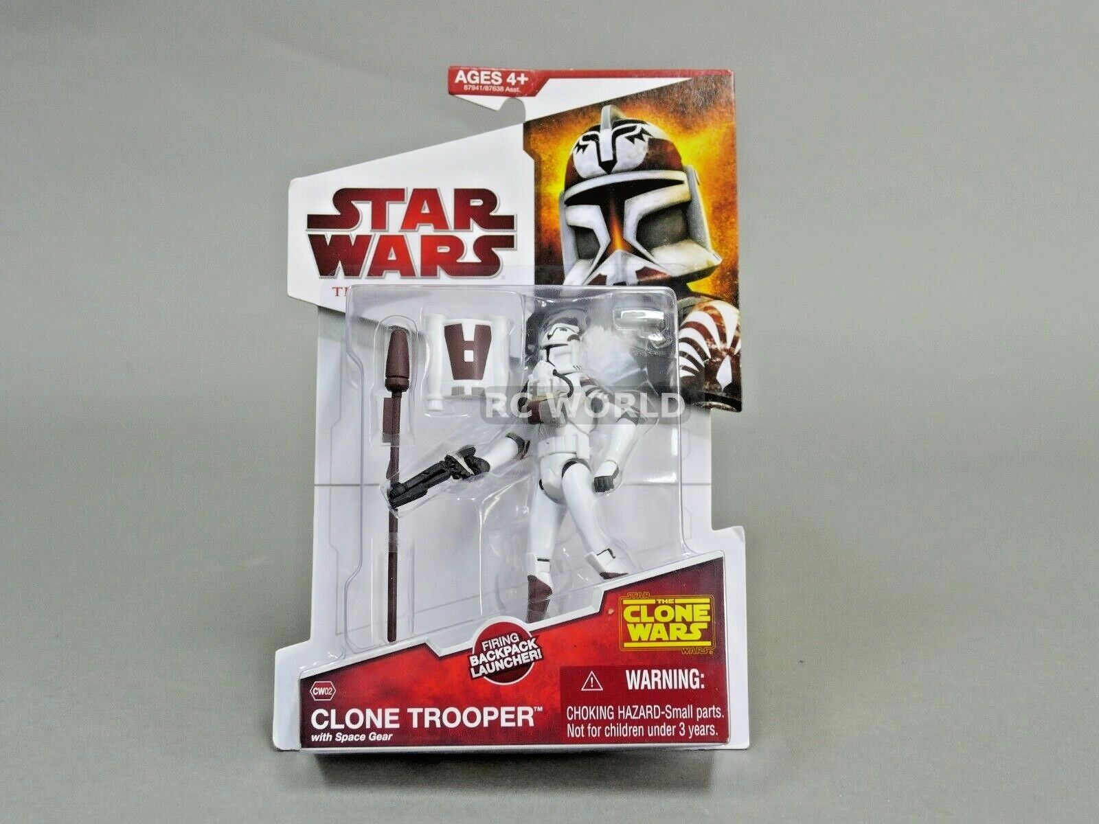 Star Wars The Clone Wars CLONE TROOPER W  Space Gear Action Figure  e3a
