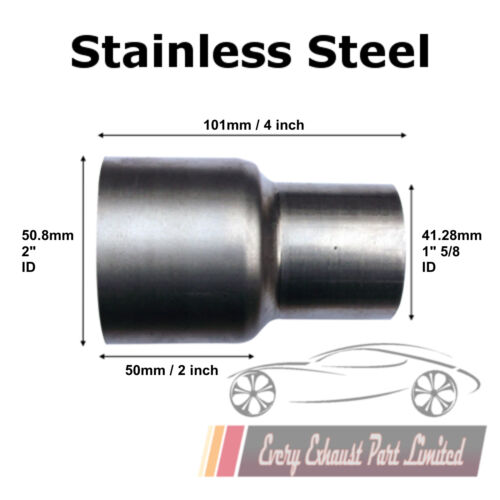 50.8mm Id a 41.28mm Id Inox Standard Scarico Connettore Riduttore Tubo