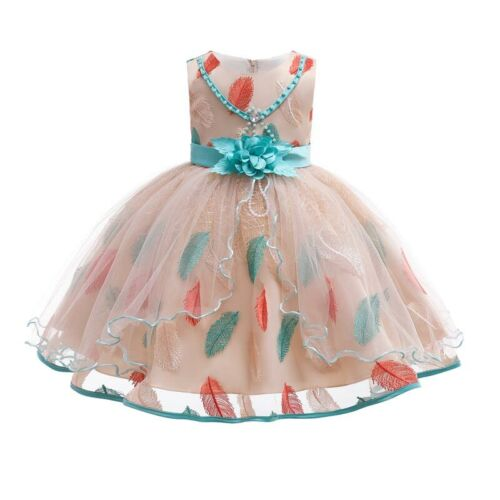 Dresses Flower Kid Princess Formal Wedding Bridesmaid Tutu Party Baby Lace Girl