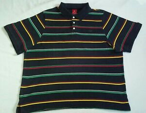 Vintage-Air-Jordan-Polo-Shirt-Size-XXXL-Black-striped-Flight-Jumpman-3XL-wings