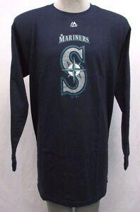 4e0f4151 Seattle Mariners Men's Big & Tall Long Sleeve Crew Neck Sweat Shirt ...