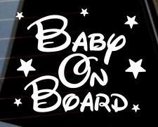 Baby on Board stars boy girl unisex car window bumper bike sticker VW jdm DUB
