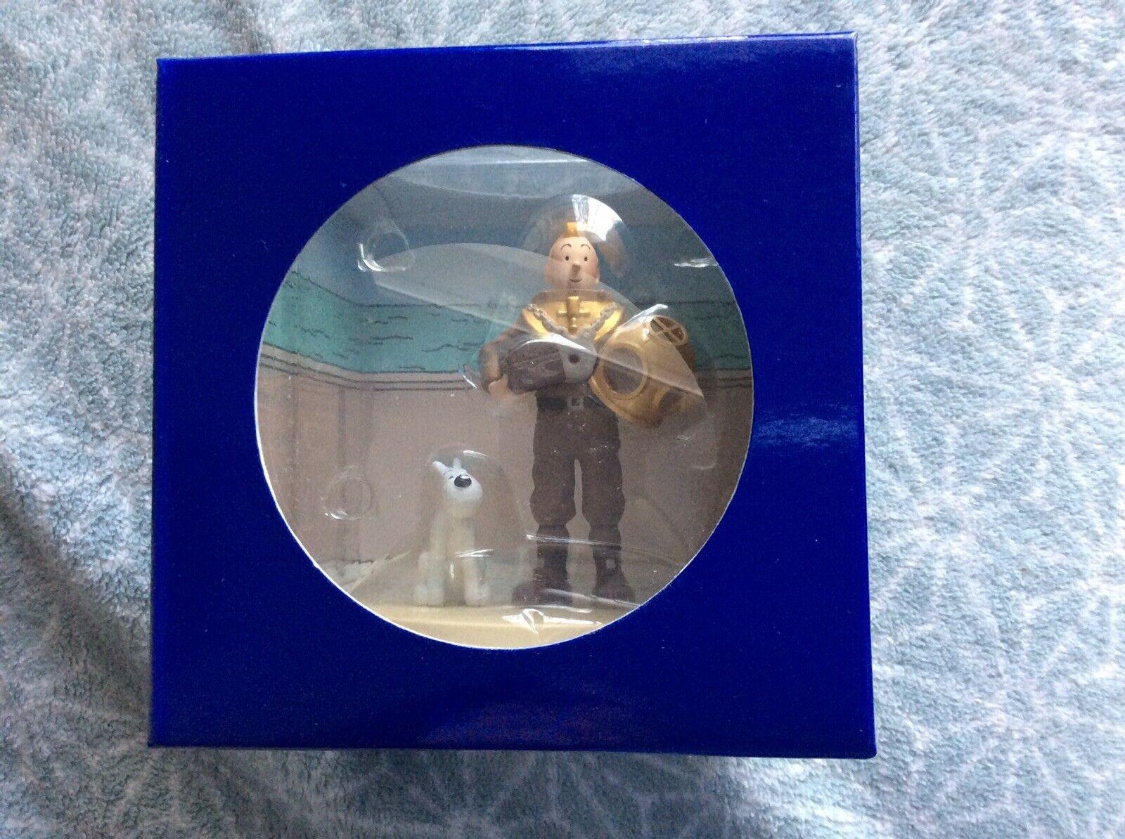 COFFRET MOULINSART SCENE PLASTIQUE PLASTIQUE PLASTIQUE TINTIN SCAPHANDRE NEUF e54d55