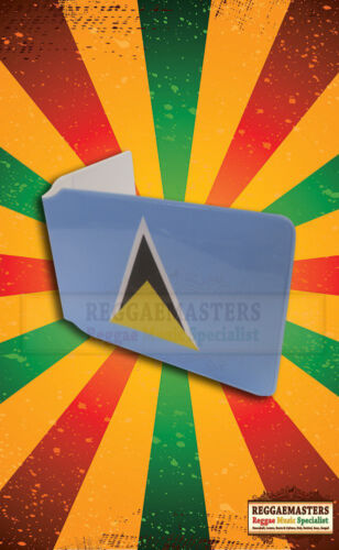 St Lucia Print Bus pass Travel Card Plastic Wallet ROOTS /& CULTURE