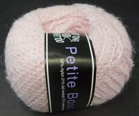 Knit One Crochet Too Petite Boucle Yarn Mohair Wool  210 Pale Pink Worsted