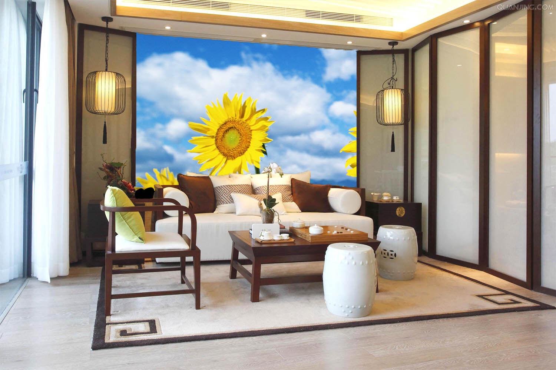3D Cute Sunflowers 97 Wall Paper Murals Wall Print Wall Wallpaper Mural AU Kyra