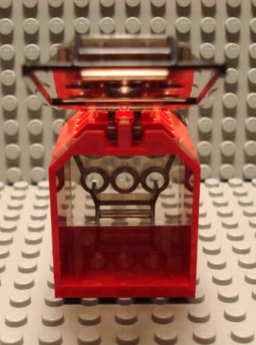 Lego Container Box Open End 4x4x4 Doors Red Trans Black