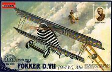 FOKKER D VII OAW (ULRICH NEKKEL KAISERLICHE LUFTWAFFE ACE MKGS)#29 1/72 RODEN