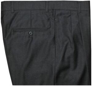 MINT-PREOWNED-JOSEPH-ABBOUD-CHARCOAL-MICRO-WEAVE-SUPER-120-039-S-WOOL-DRESS-PANTS-32