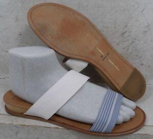 bdf3b16230ff Dolce Vita Womens Paci White Blue Slip On Wedge Sandals Shoes size ...