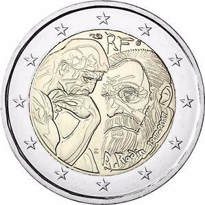Frankreich-2-Euro-Muenze-Auguste-Rodin-2017-Stempelglanz-Gedenkmuenze