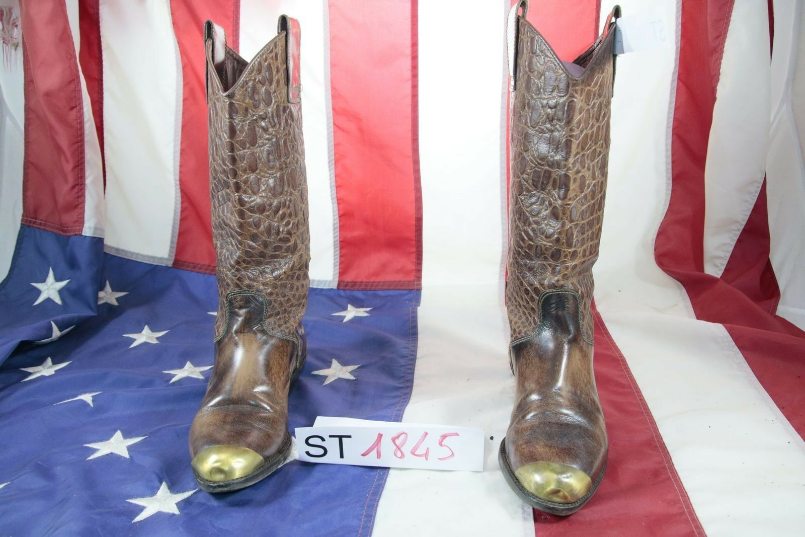 Boots Made in  ( Cod. St1845) Used N Woman Leather Brown Cowboy Bikers