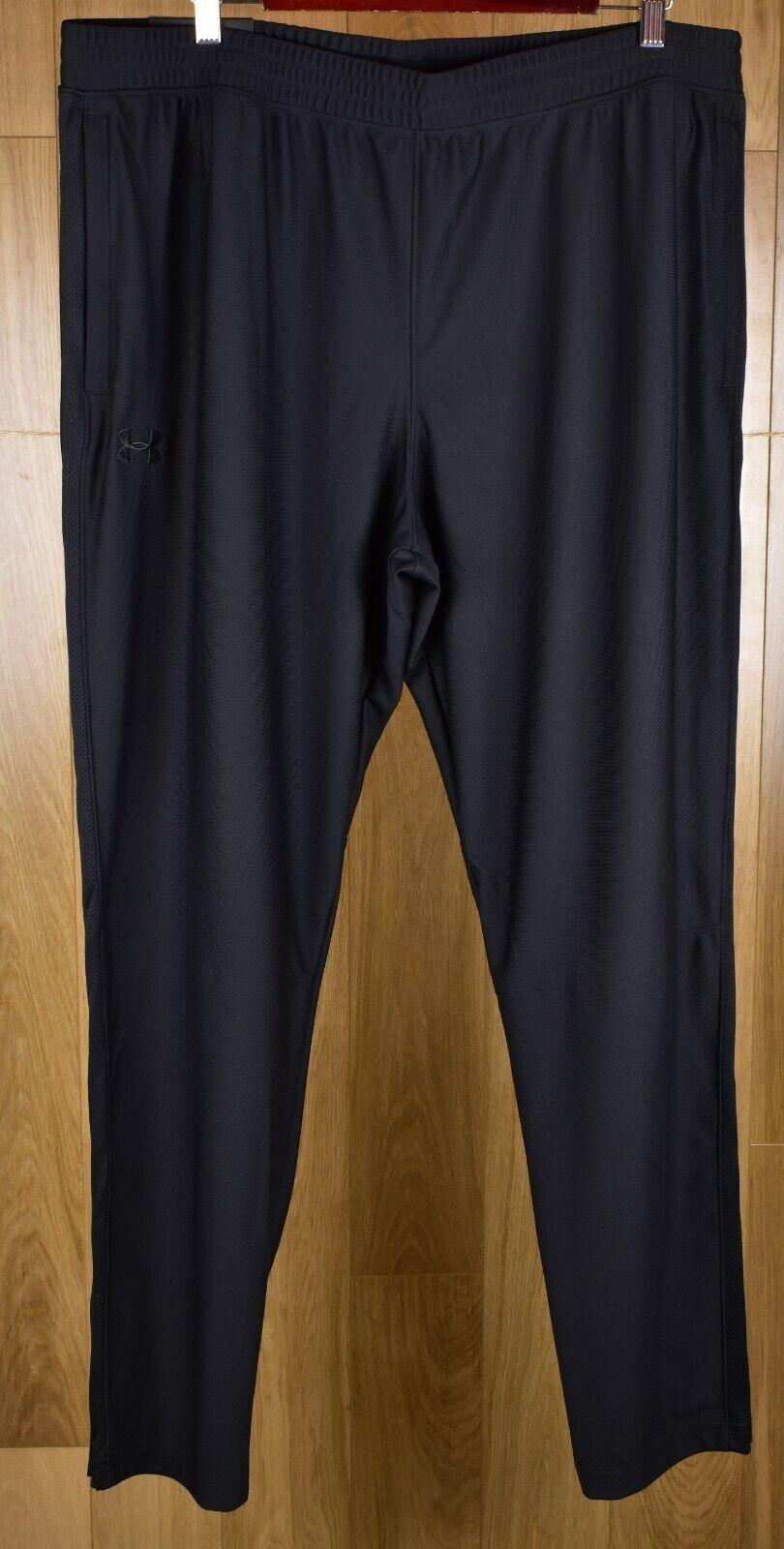NWT Under Armour Mens UA Sportstyle Pique Training Pants Sz Ex Large Grey//White