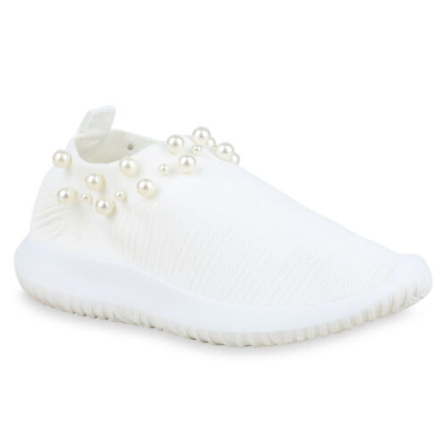 Damen Sportschuhe Laufschuhe Slip On Schuhe Profil Sneaker Strick 825686 Schuhe