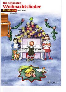 Klavier-Noten-Die-schoensten-Weihnachtslieder-sehr-leicht-MAGOLT-Anfaenger
