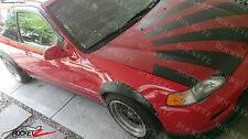 92-95 Honda Civic JDM WIDE BODY Fender Flares FRP 4PCs USA CANADA w/ Rivets Spot