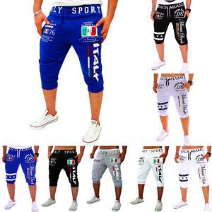 Mens-Jogger-3-4-Shorts-Harem-Half-Pants-Sport-Trousers-Running-Bottom-Casual