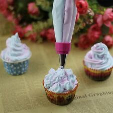 Two Color Piping Icing Bag Cake Cookie Cupcake Decorating Nozzles Tool Set OE