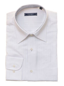 99-Chams-Classic-Fit-White-Striped-100-Cotton-High-Quality-Mens-Dress-Shirt